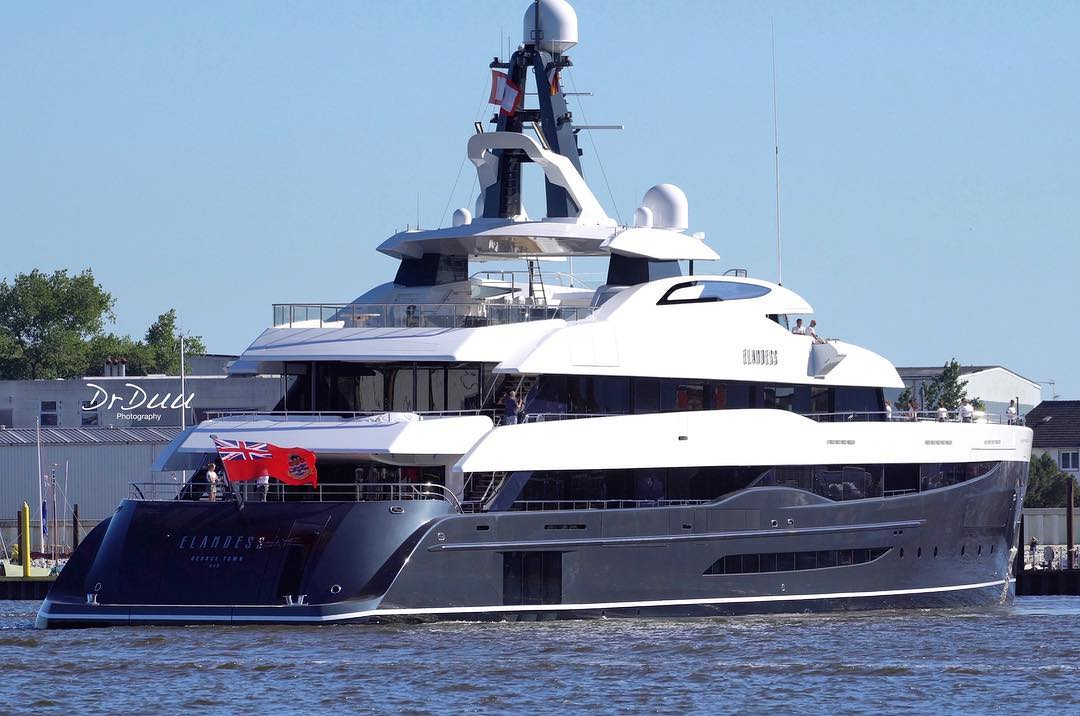 Abeking & Rasmussen motor yacht Elandess delivered. Photo credit DrDuu