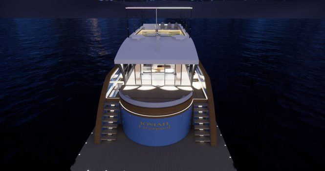 Aft view by night