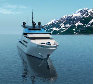 Kurt Strand unveils futuristic 122 metre superyacht concept Aurora Borealis
