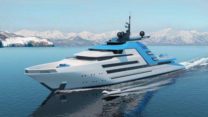 Kurt Strand unveils futuristic 122 metre superyacht concept Aurora Borealis — Yacht Charter ...
