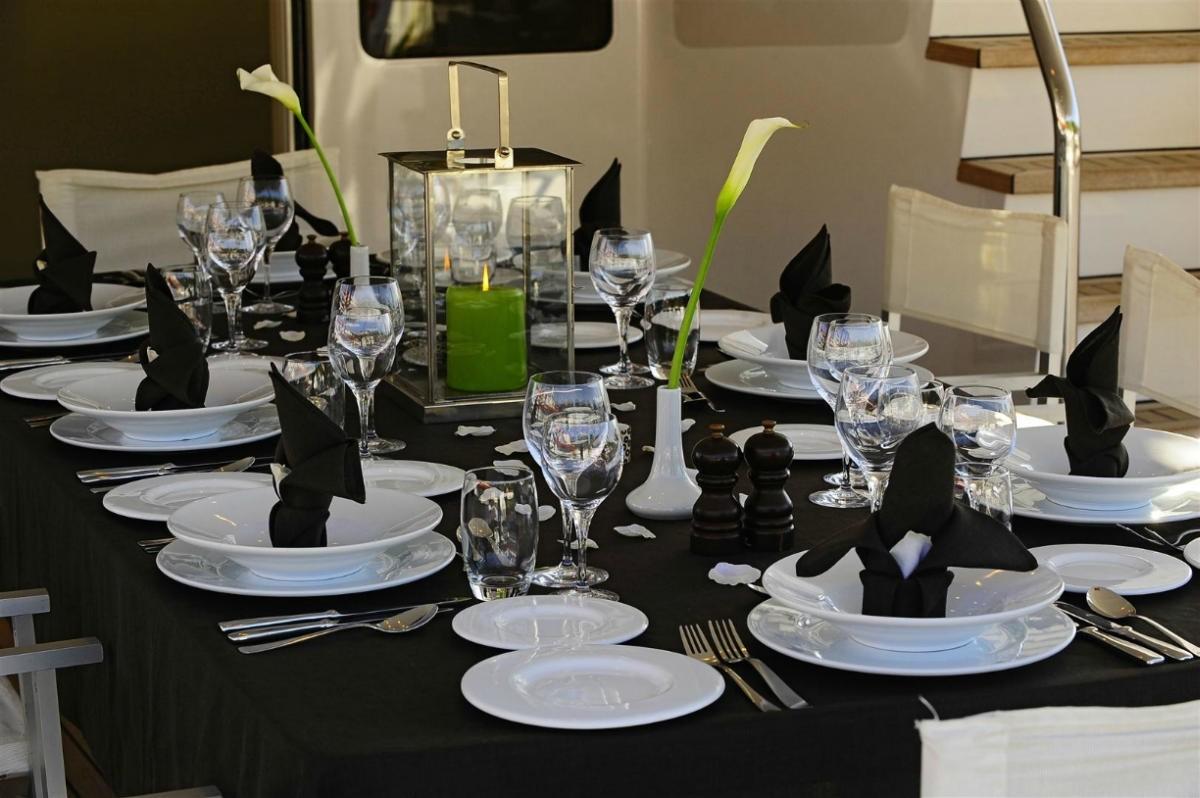 Beautiful formal dining set up