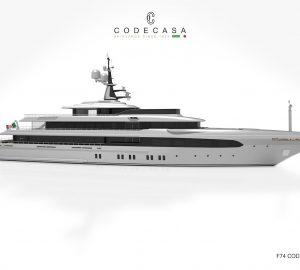 65m Codecasa Superyacht F74 to be delivered next summer