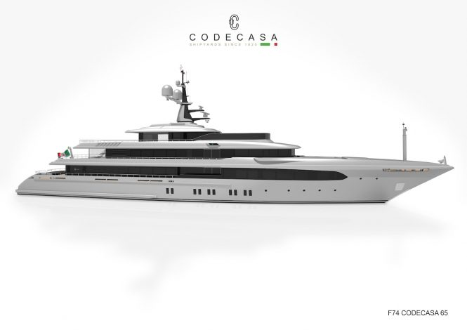 Codecasa motor yacht F74