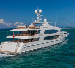 57m Luxury Superyacht SKYFALL offering 15% Last Minute Charter Availability in the Med