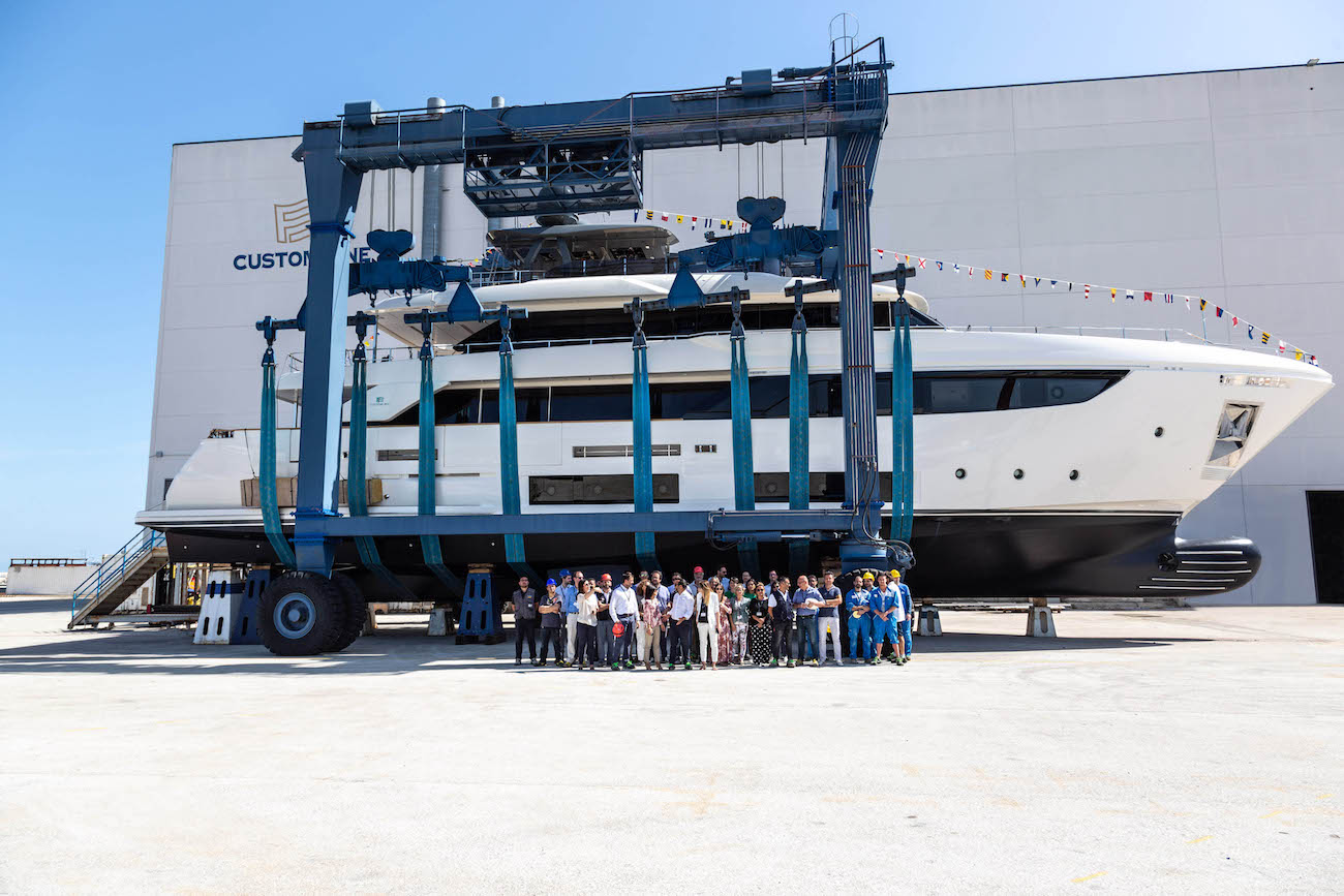 Custom Line Navetta 33 superyacht launch in Italy