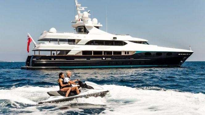 ELENI motor yacht with a Jetski