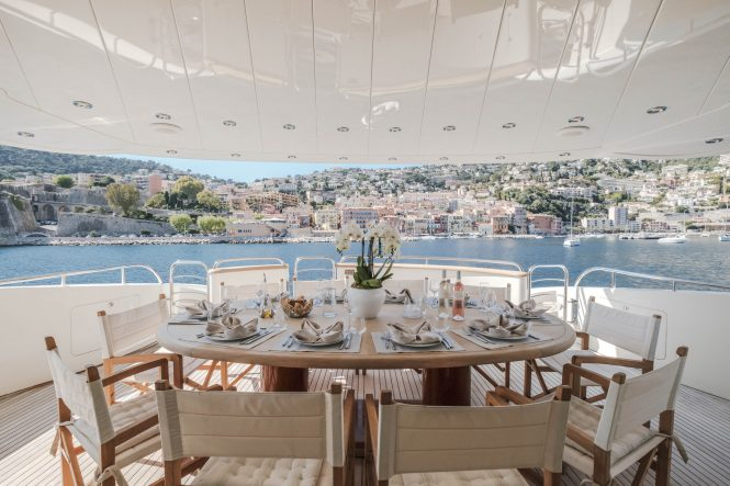 Fabulous alfresco dining option with unprecedented views of the French Riviera