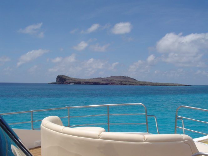 Fabulous views from the yacht