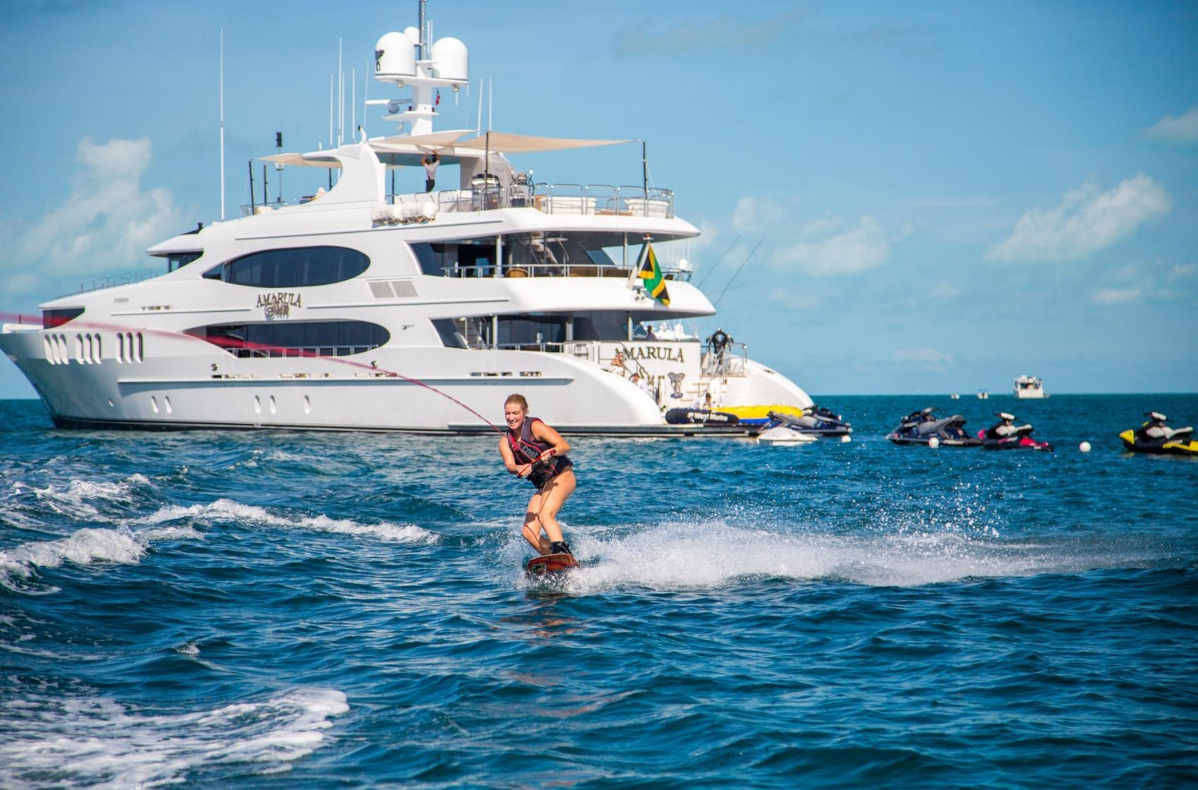 Fantastic choice of water toys during your charter vacation