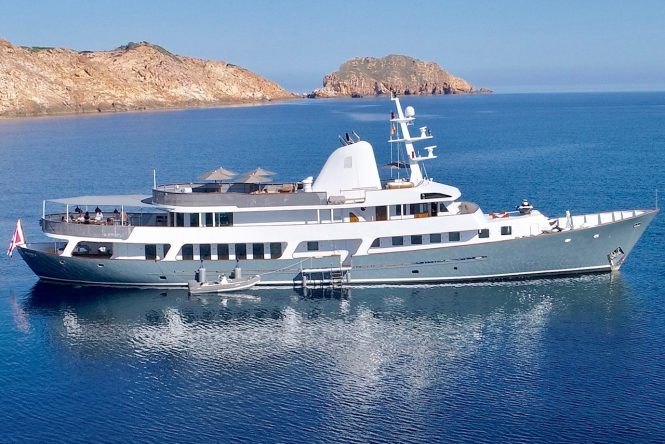 Fantastic classic motor yacht MENORCA in the Mediterranean