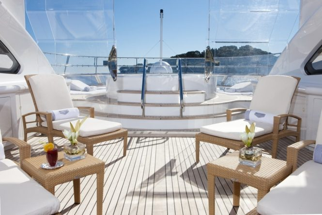 Jacuzzi offers yet another place to completely unwind on your charter