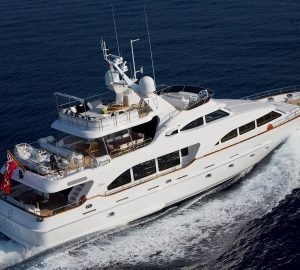 30m SALU offering 20% off yacht charter vacations in the Mediterranean