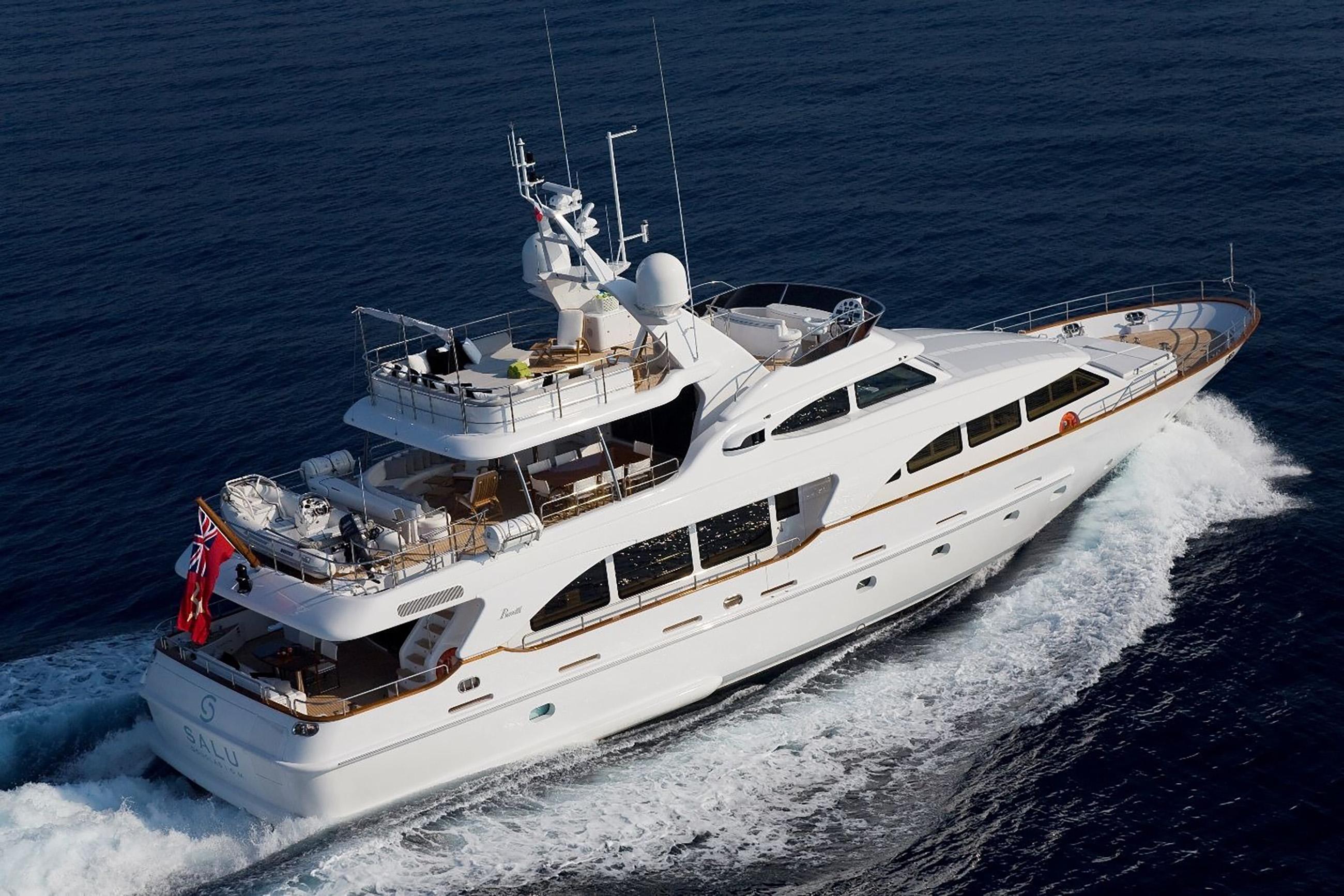 Luxury motor yacht SALU available in the Western Mediterranean