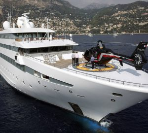 Don't miss the Mediterranean charter special with imposing 90m LAUREN L mega yacht