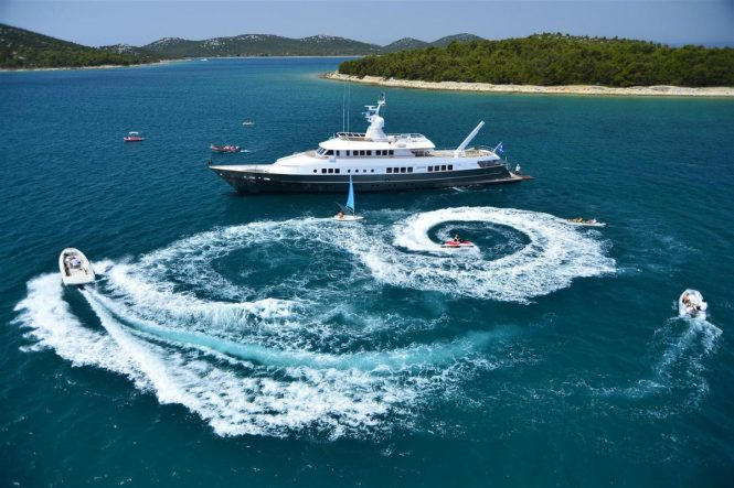 Motor yacht BERZINC with water toys