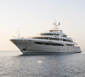 85m mega yacht O'PTASIA offering special charter rate in Athens, Greece