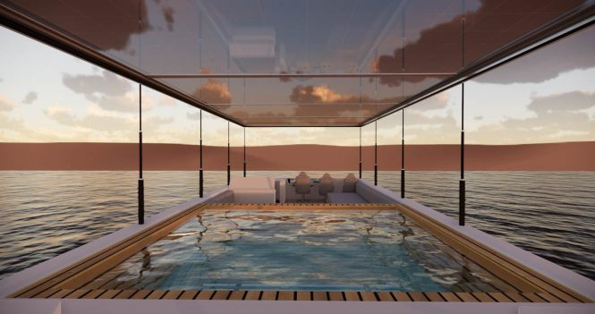 On board pool