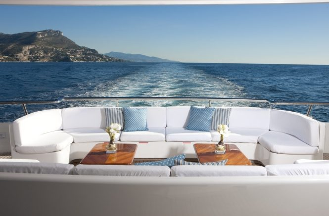 Private retreat on the aft deck