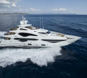 Sensational brand-new Sunseeker 131 superyacht Lady M accepting Western Mediterranean charters