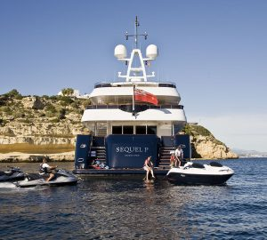54m SEQUEL P offering 15% off yacht charter vacations in the Mediterranean