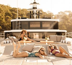 31m luxury yacht ONEWORLD offering 15% off Whitsundays charters
