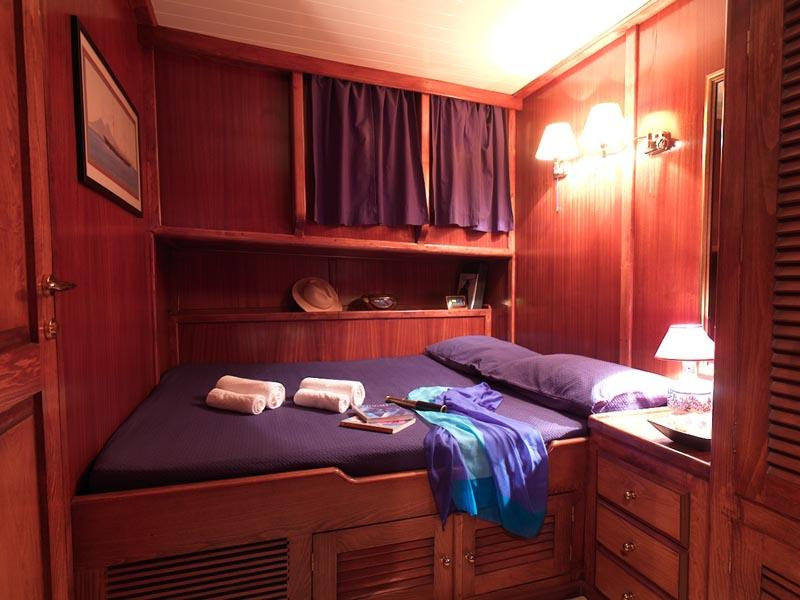 Traditional deluxe accommodation on board
