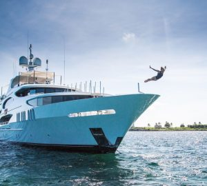 50m Trinity motor yacht AMARULA SUN available for discounted charter rates in the Bahamas