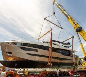 Dominator 28M Ilumen Motor Yacht ZALANKA Touches Water