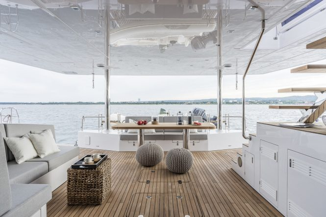 alfresco dining and aft deck area to relax