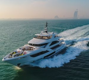 Glamorous life on board luxury yacht C'EST LA VIE - latest Majesty 140 from Gulf Craft