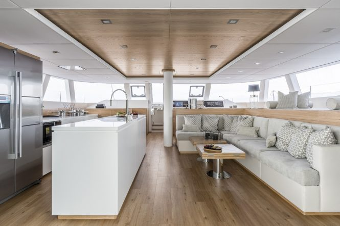 main saloon and galley