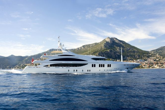 ANDREAS L of 60 metres available for charter in the Med