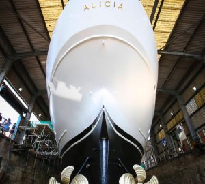 1930s classic motor yacht Alicia launched by SMS
