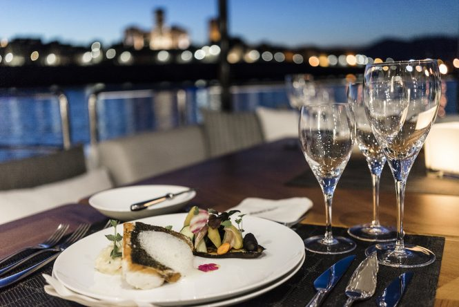 Delicious meals throughout your entire charter
