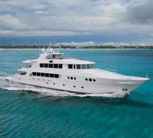 45m EXCELLENCE offering reduced yacht charter rate for vacations in the Bahamas