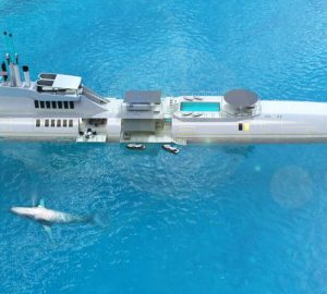 Futuristic 135m submersible luxury yacht for you and your friends