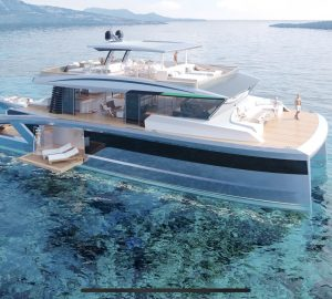 Lazzara Ombres announces new Oasis 80 hybrid catamaran support vessel concept