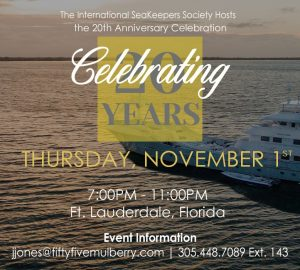 International SeaKeepers Society to Celebrate 20th Anniversary at Founders 2018 Event