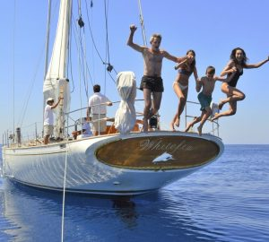 Classic sailing yacht WHITEFIN charter special around Sardinia and Corsica