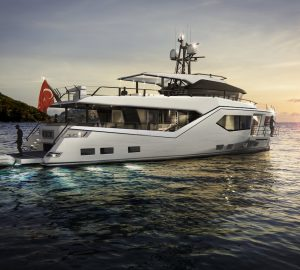 Evadne Yachts and Vripack collaboration expedition yacht Rock launched