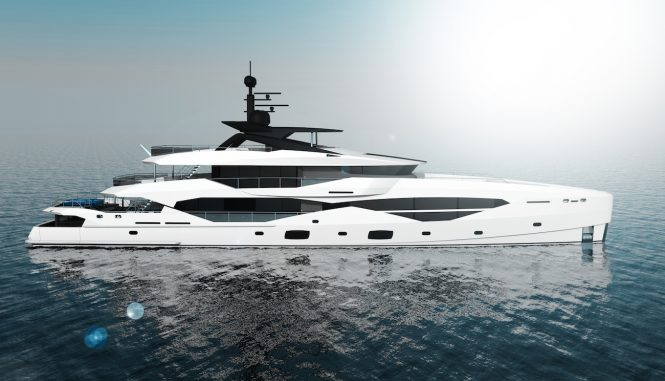 49m Sunseeker by ICON superyacht concept profile