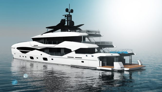 49m Sunseeker by ICON superyacht concept - swim platform