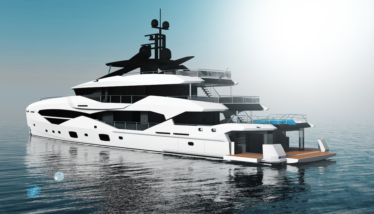 49m Sunseeker by ICON superyacht concept - swim platform