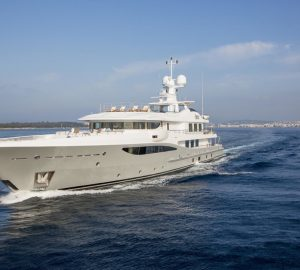 The striking 55m Amels superyacht 4YOU is offering 10% off remaining West Med charters