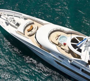 50m Westport motor yacht GIGI available fro Thanksgiving in the Bahamas