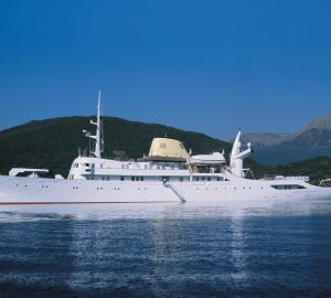 Celebrate legendary CHRISTINA O's 75th birthday on a Caribbean and Bahamas yacht charter