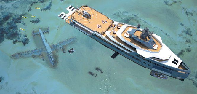 DAMEN SeaXplorer 75 aerial view