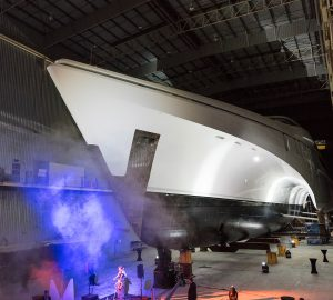 84m Superyacht White Rabbit Golf Launched at Echo Yachts