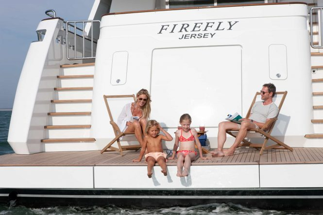 Family charter vacations with motor yacht FIREFLY