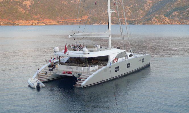Ipharra a 102 Ft fully crewed Sunreef catamaran super yacht